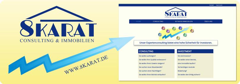 8Karat Logo und Website