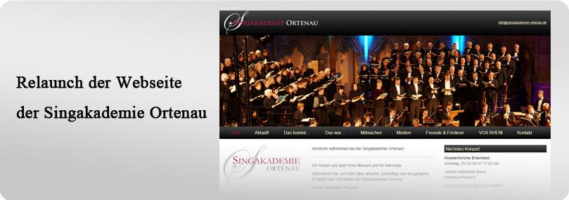 Webseite Singakademie Ortenau